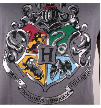 T-Shirt Harry Potter - Homme - Ecole Poudlard Multi-Logos