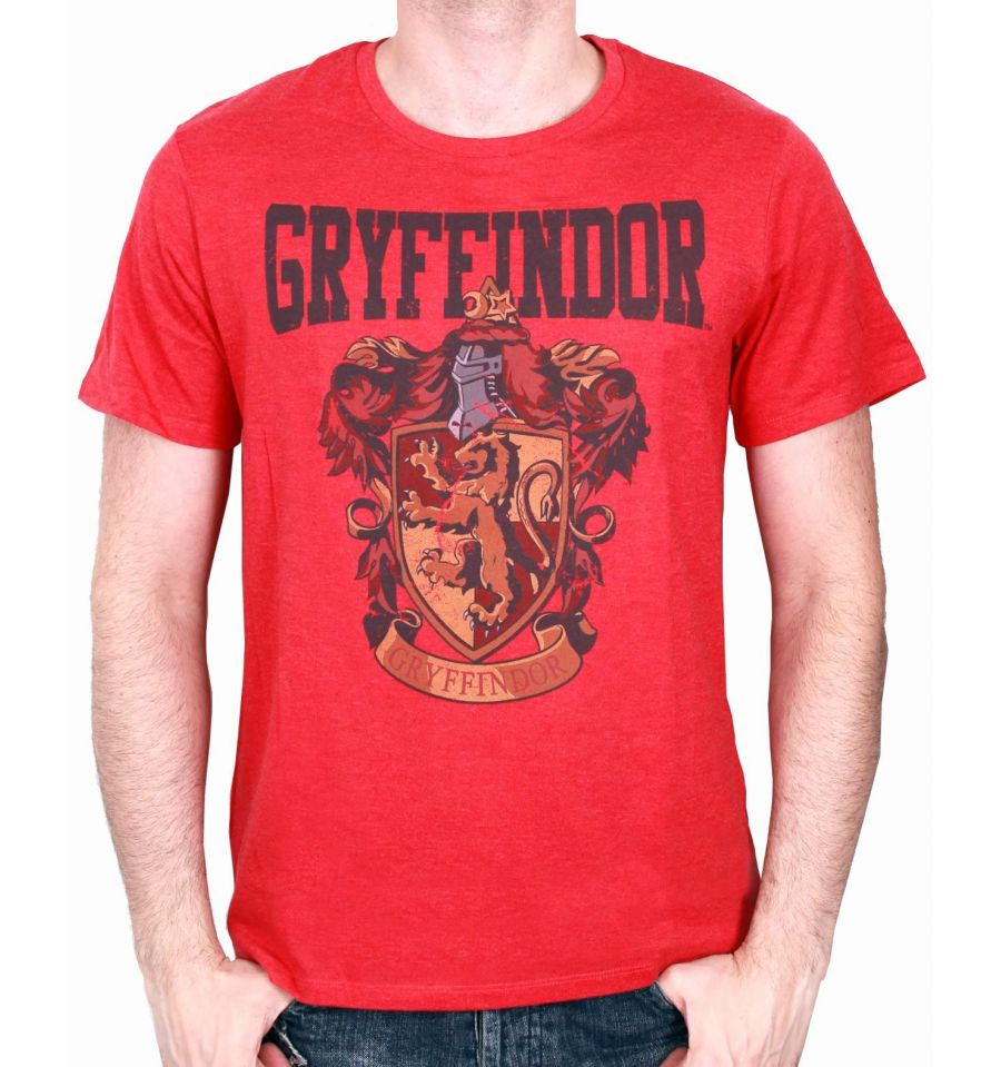 T-Shirt Harry Potter - Homme - Maison Gryffondor