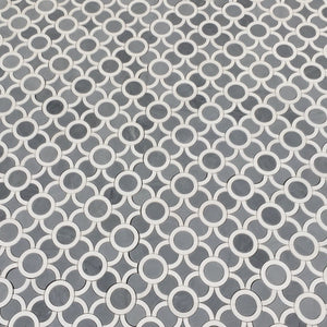 Bubble - Marble Waterjet Mosaic (Priced: 1 SHEET | 1 SQFT)