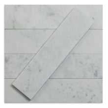 Load image into Gallery viewer, Carrara White 3x12 Marble Subway Tile (Priced Per 1 Sqft)