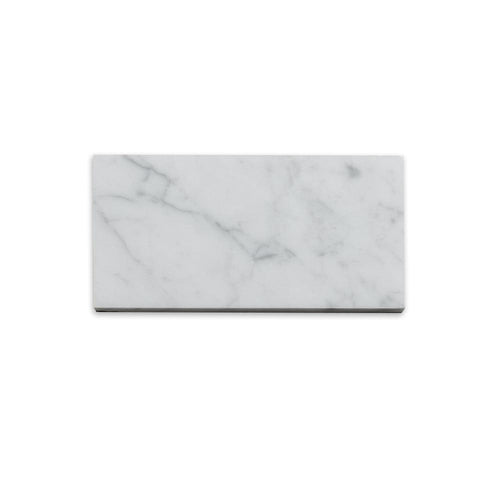 Carrara White 3x6 Subway Marble Tile