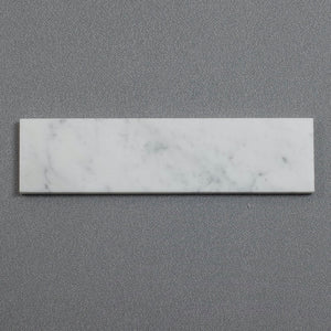 3 by 12 inch Polished Carrara White Subway Tile