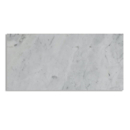 Carrara White 6x12 Marble Tile