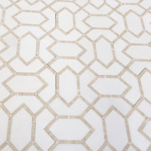 Load image into Gallery viewer, Beige Diamond - Thassos, Crema Marfil Marble Water-Jet Mosaic (Priced: 1 SHEET | 0.87 SQFT)