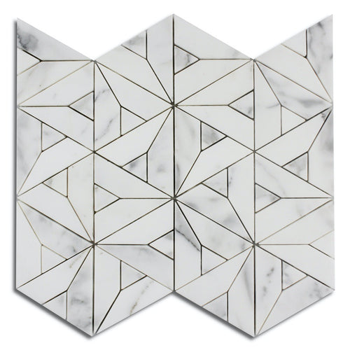 Triangle - Marble Waterjet Mosaic (Priced: 1 SHEET | 0.76 SQFT)