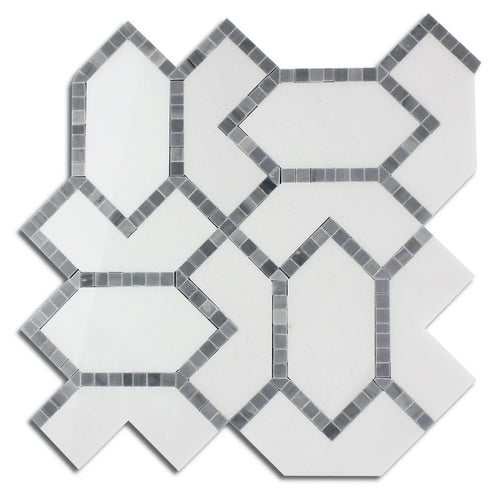 Grey Diamond - Marble Waterjet Mosaic (Priced: 1 SHEET | 0.87 SQFT)