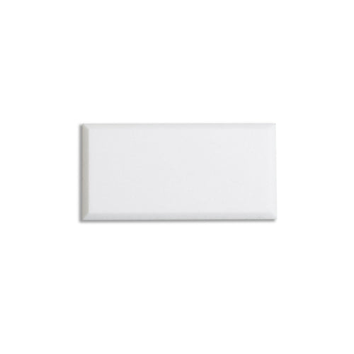 3x6 Polished Thassos Marble Subway Tile with Beveled Edge (Priced per sqft)
