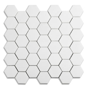 Thassos 2 in Hexagon Marble Mosaic (Priced Per Sheet | 0.98 sqft)