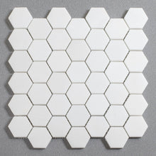 Load image into Gallery viewer, Thassos 2 in Hexagon Marble Mosaic (Priced Per Sheet | 0.98 sqft)