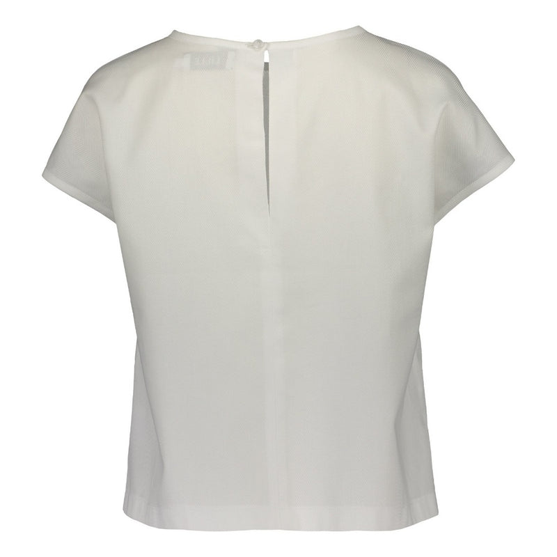 Kiti top in white by Lille Clothing_back 2