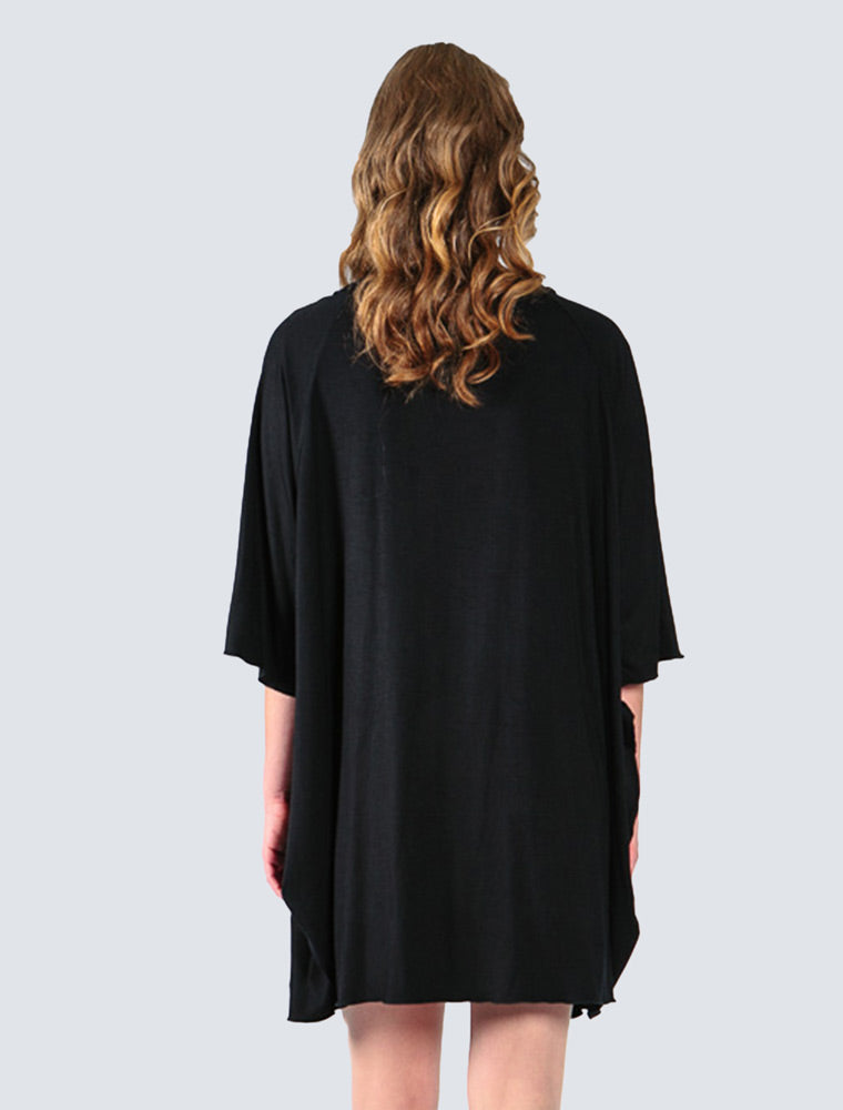 Black jersey cardigan back by LILLE Clothing