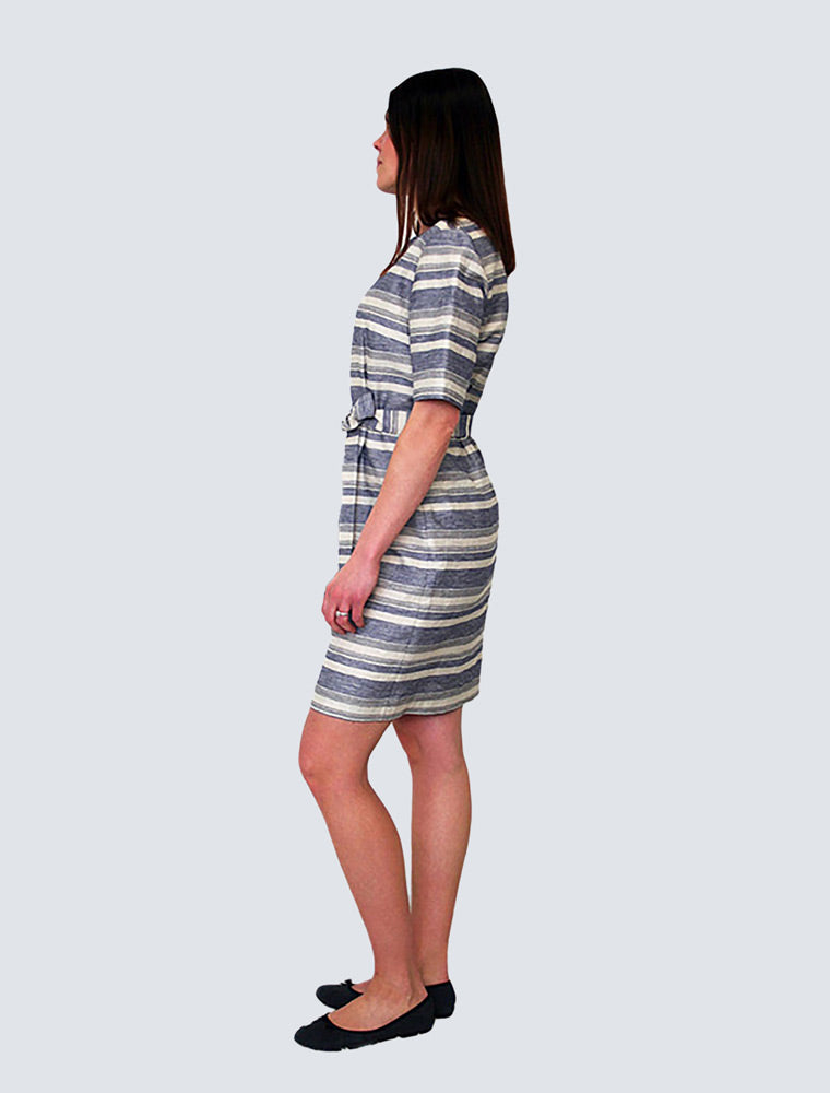 Elvi Dress with Stripes - LILLE Clothing