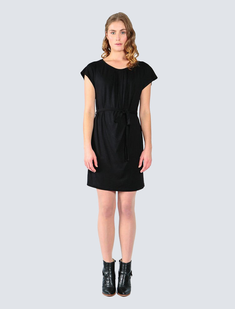 Helvi Jersey Dress Black - LILLE Clothing