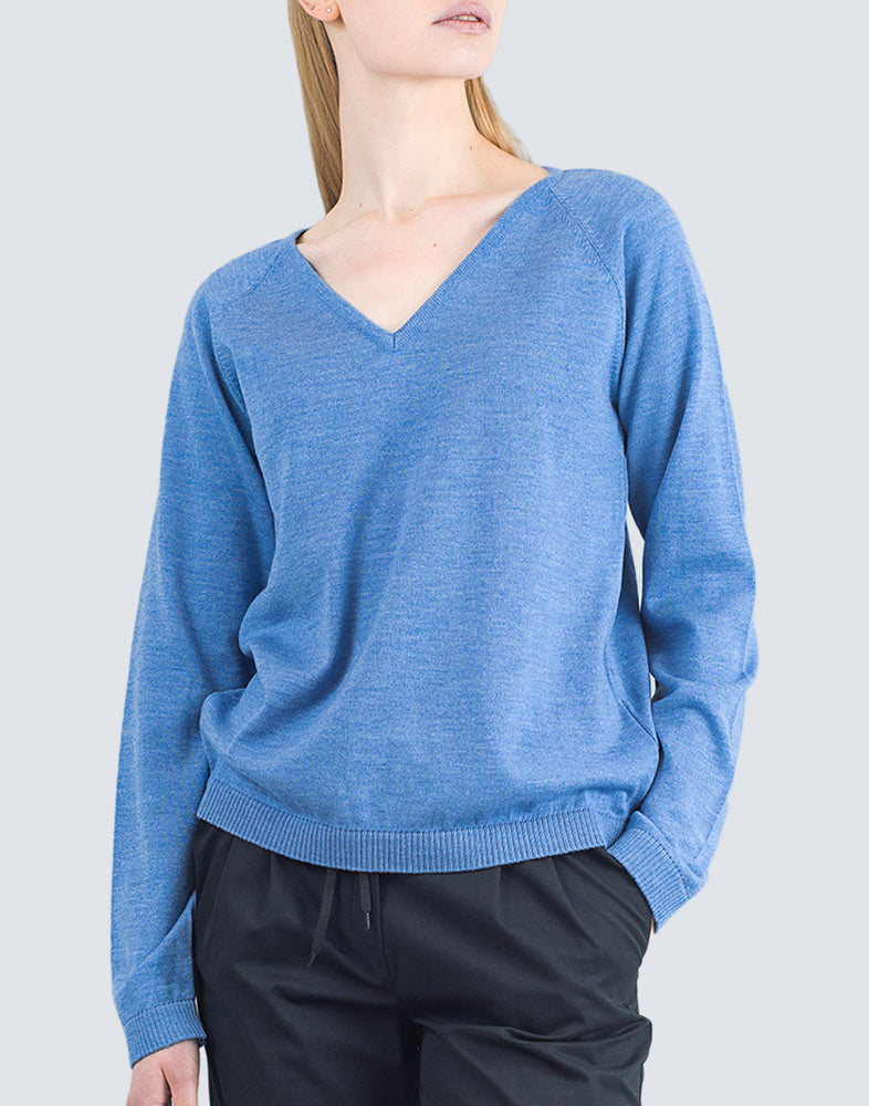 Heta Sweater Blue - LILLE Clothing