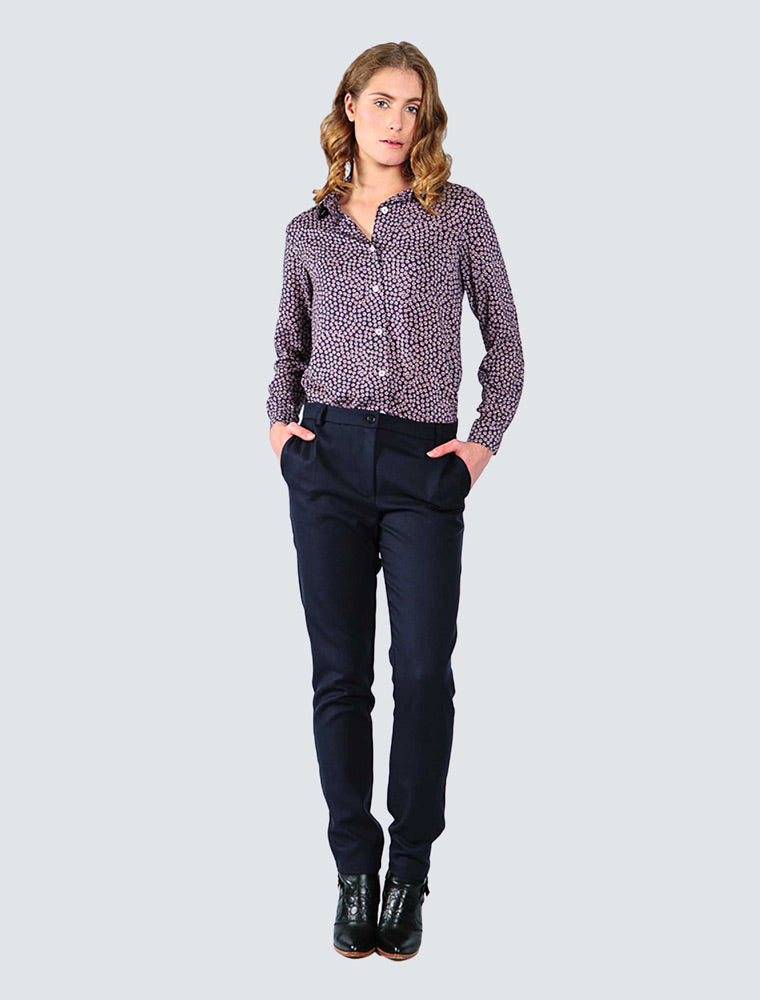 LILLE-Julia-shirt-navy-dotted