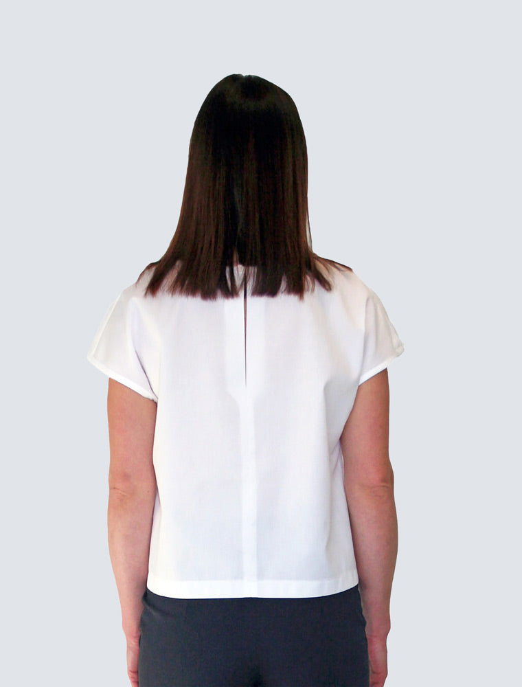 White loose fit top back by LILLE Clothing