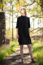 LILLE-Kukka-shirt-dress-black