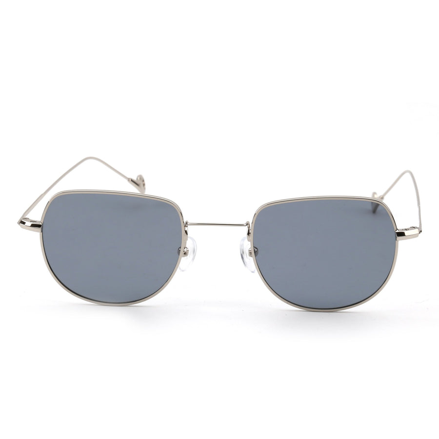 unisex round sunglasses gray / green / brown | m20147