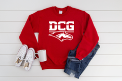 DCG MONOGRAM W/HEAD RED CREWNECK