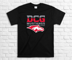DCG MONOGRAM MUSTANGS HEAD FULL COLOR ON BLACK
