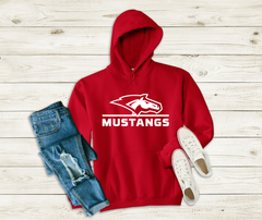 DCG MUSTANGS/HEAD RED HOODIE
