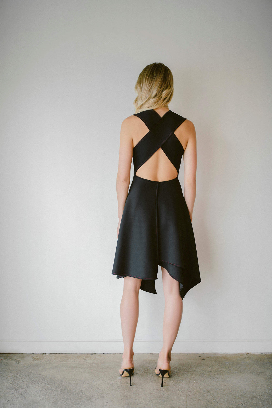THE CROSS-BACK DRESS IN BLACK