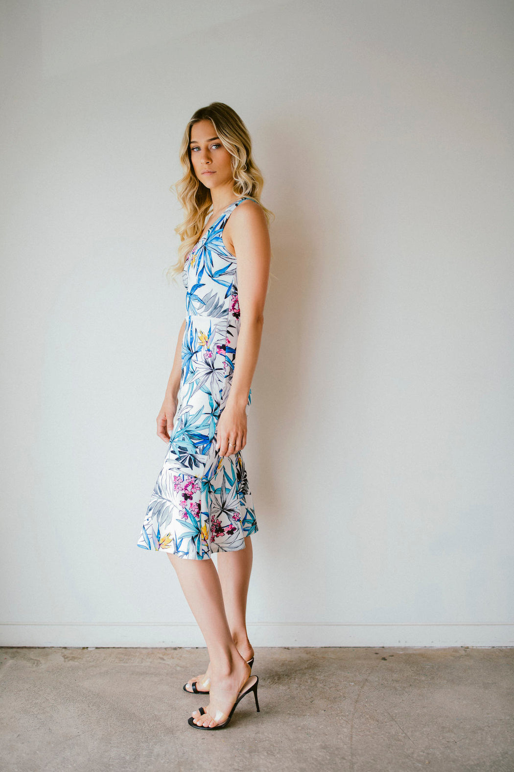 LIMITED EDITION FLORAL ONE-SHOULDER MIDI
