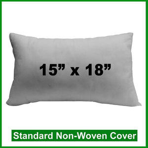 "Pillow Form 15"" x 18"" (Polyester Fill) (Individually Bagged & Compressed)"