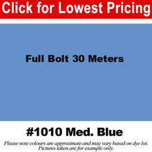"Load image into Gallery viewer, #1010 Medium Blue Broadcloth Full Bolt (45"" x 30 Meters)"