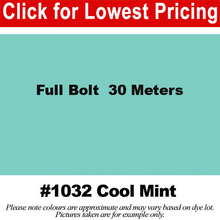 "Load image into Gallery viewer, #1032 Cool Mint Broadcloth Full Bolt (45"" x 30 Meters)"