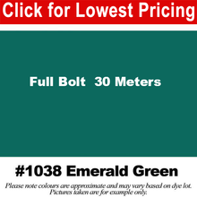 "Load image into Gallery viewer, #1038 Emerald Green Broadcloth Full Bolt (45"" x 30 Meters)"