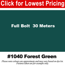 "Load image into Gallery viewer, #1040 Forest Green Broadcloth Full Bolt (45"" x 30 Meters)"