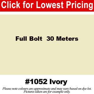 "#1052 Ivory Broadcloth Full Bolt (45"" x 30 Meters)"