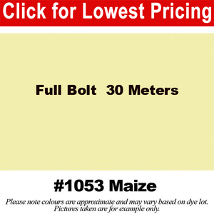 "#1053 Maize Broadcloth Full Bolt (45"" x 30 Meters)"
