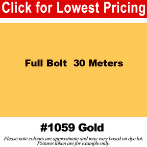 "#1059 Gold Broadcloth Full Bolt (45"" x 30 Meters)"