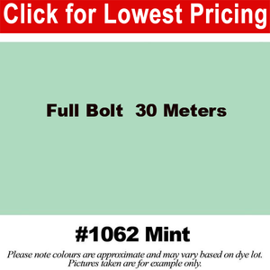 "#1062 Mint Broadcloth Full Bolt (45"" x 30 Meters)"