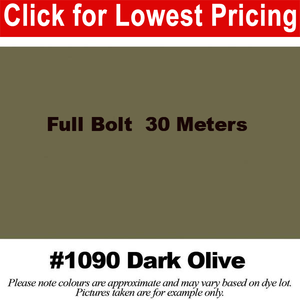 "#1090 Dark Olive Broadcloth Full Bolt (45"" x 30 Meters)"