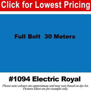 "#1094 Electric Royal Broadcloth Full Bolt (45"" x 30 Meters)"
