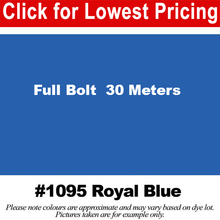 "Load image into Gallery viewer, #1095 Royal Blue Broadcloth Full Bolt (45"" x 30 Meters)"