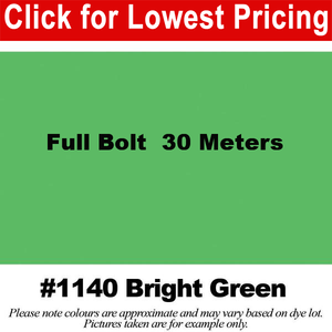 "#1140 Bright Green Broadcloth Full Bolt (45"" x 30 Meters)"