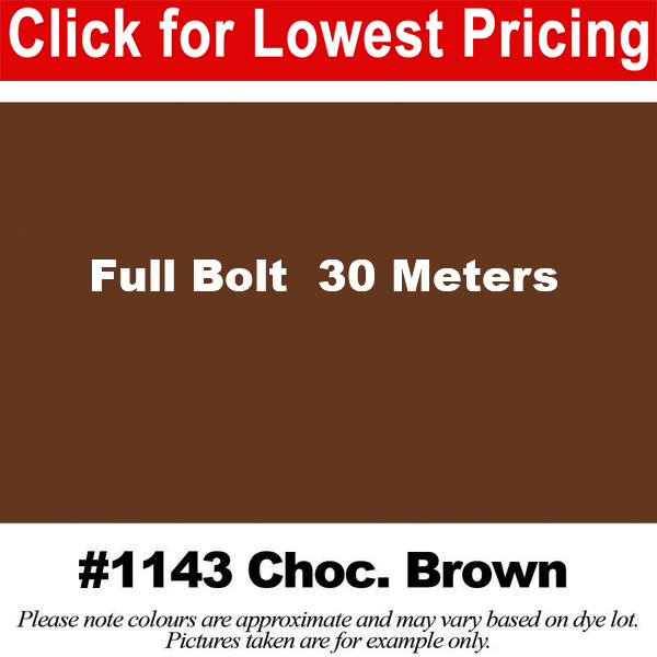 #1143 Chocolate Brown Broadcloth Full Bolt (45