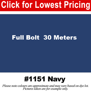 "#1151 Navy Broadcloth Full Bolt (45"" x 30 Meters)"