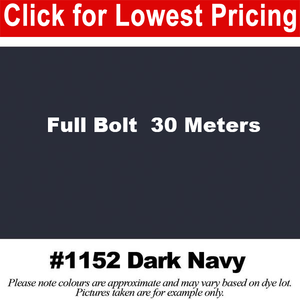 "#1152 Dark Navy Broadcloth Full Bolt (45"" x 30 Meters)"