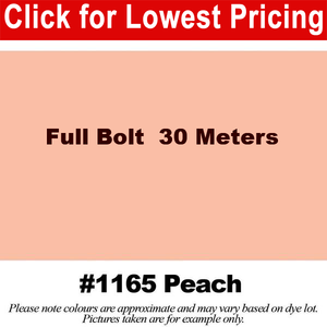 "#1165 Peach Broadcloth Full Bolt (45"" x 30 Meters)"