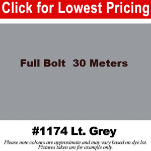 "#1174 Light Grey Broadcloth Full Bolt  (45"" x 30 Meters)"