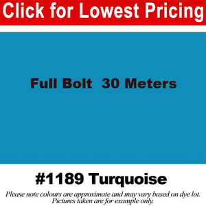 "#1189 Turquoise Broadcloth Full Bolt (45"" x 30 Meters)"