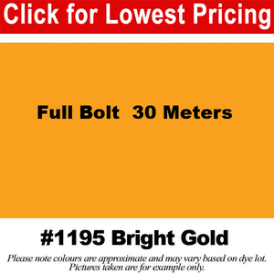 "#1195 Bright Gold Broadcloth Full Bolt (45"" x 30 Meters)"