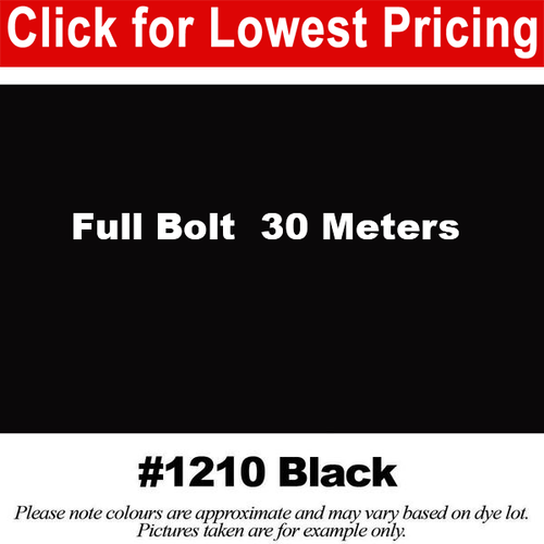 #1210 Black Broadcloth Full Bolt (45