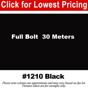 "#1210 Black Broadcloth Full Bolt (45"" x 30 Meters)"