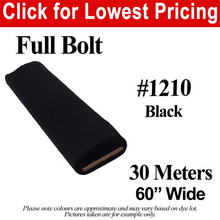 "Load image into Gallery viewer, #1210 Black Broadcloth Full Bolt (60"" Wide x 30 Meters)"